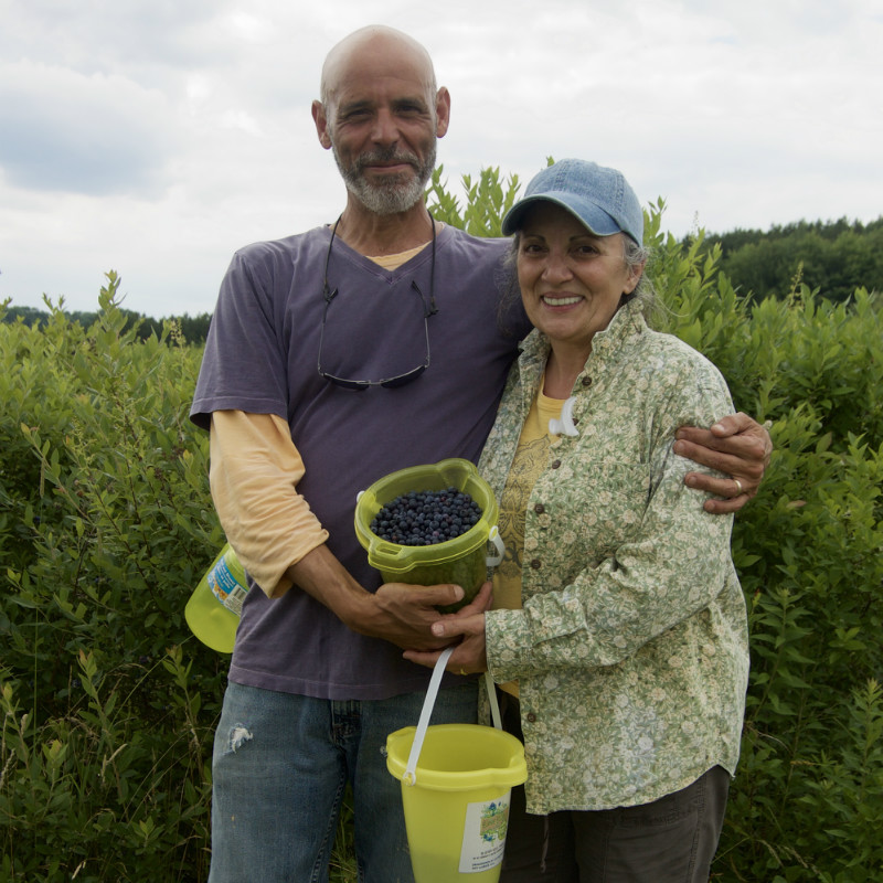 Dennis & Roseann, owners of Bleuet Hill Farm, Deposit, NY