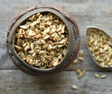 Savory smokey roasted sunflower seeds, a delicious and healthy snack.