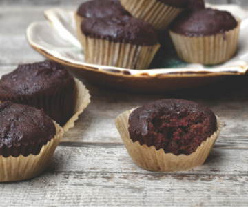 CHOCOLATE BEET MINI MUFFINS